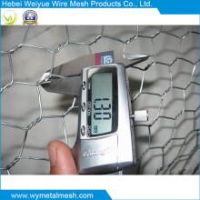 Malla de malla de alambre hexagonal electro galvanizada