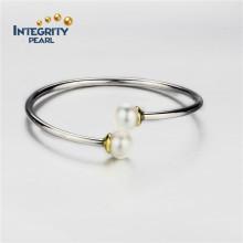 Argent sterling 10.5-11mm Prochain motif de bracelet à perles rond AAA
