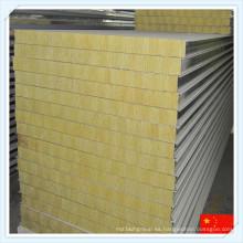 Panel de sándwich de lana mineral con aislamiento térmico de alta calidad de China Hiqh