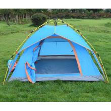Tente pliante automatique double de camping en plein air hydraulique 3-4 personnes
