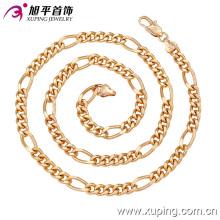 Fashion Xuping 18k Gold -Plated hommes Neckalce en cuivre environnement-42622
