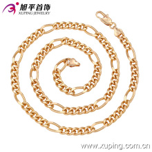 Moda Xuping 18k Gold-Men Colls Neckalce em Cobre Ambiental-42622
