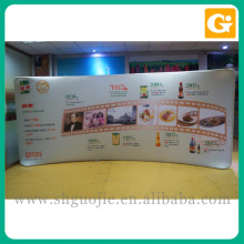 Advertising Banner 250g Polyester Straight Tension Fabric Display