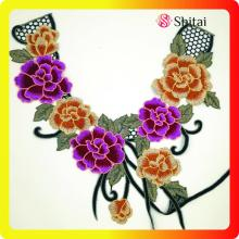 Flower Embroidery Applique Lace Collar