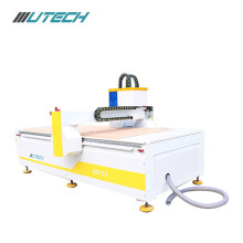 CNC router with spindle CCD camera oscillating knife