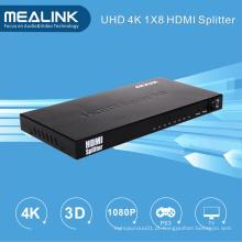 4k 1 em 8 para fora 1X8 HDMI Splitter