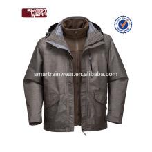 3 en 1 workwear caliente hombres chaqueta piloto chaqueta de bombardero de invierno