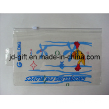 PVC Pouch, PVC Case for Swim Cap, PVC Zipper Bag with Hanging Hole