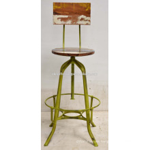 Industrial Vintage Vintage Retro Taburete Verde Distress Old Color