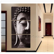 Peinture à l'huile sur toile à la main décorative de Bouddha murale (BU-019)