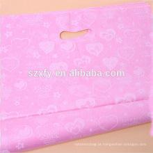 Custom Logo Printing Patch punho plástico saco de compras