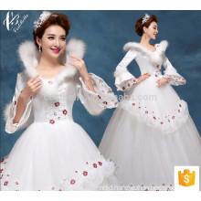 Lace high neck white bridal ball gown Princess Wedding Dress