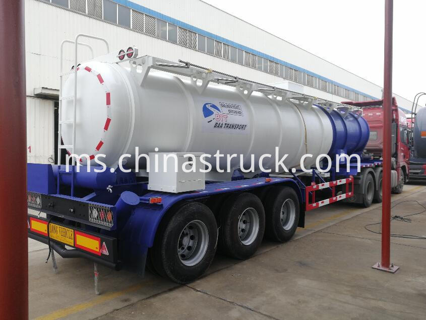 3 axle sulfuric acid tank trailer for Zambia