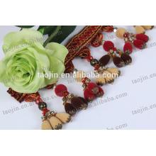 Meilleur prix rideau perles rideau bordure bordure garnitures