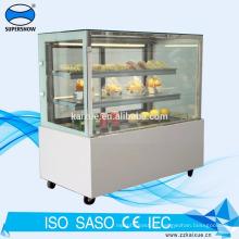 Refrigerador de exhibición de pasteles de 6 pies con iluminación LED