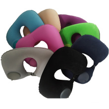 Portable Folding Essential Automatic self-inflating press Air Filled Inflatable Travel Neck U-Shaped Pillow for Adul