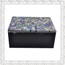 Paua Shell Storage Box with Black Paint Medium size