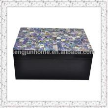 Mãe de pérola shell caixa de jóias caixa de embalagem caixa de jóias de cristal