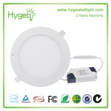 Ultra mince design 4W LED plafond encastré mince panneau rond lumière