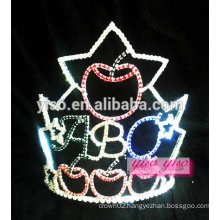 wholesale boutique top quality apple pie pageant tiara