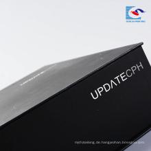 Benutzerdefinierte Luxus-Karton matt schwarz Geschenkverpackung