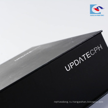 Изготовленные на заказ роскошные картон матовый черный коробка подарка упаковывая