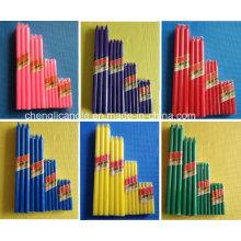 9-90g Farbe duftende Stock lange Säule Haushalt Kerze