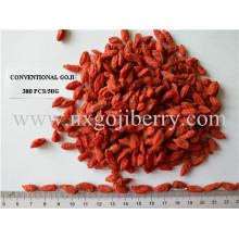 Berry secado de Goji con la muestra libre