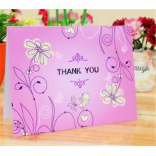 Tarjeta de papel de cuatro colores Tarjeta de felicitación de regalo Impresión de tarjetas de felicitación