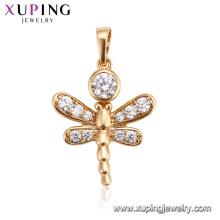 33388 Xuping últimos diseños de joyería de oro personalizado abeja animal colgante joyería geométrica de lujo