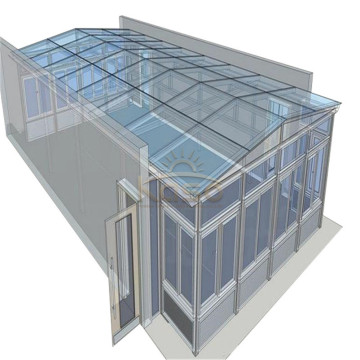 Venta de Invernadero Comercial Glass House Kit de Sunroom Barato