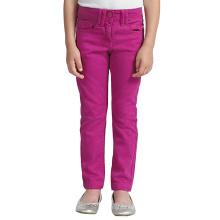Pantalon en coton extensible pour enfants Pantalon en denim brodé