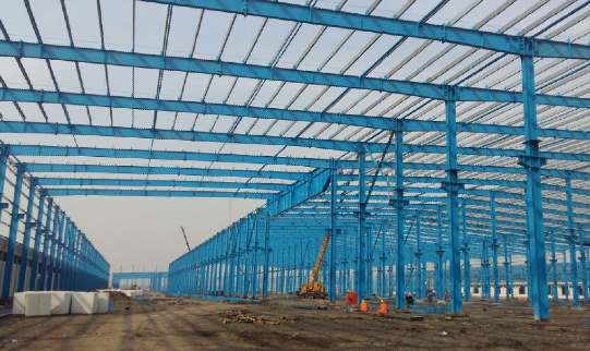3.	Long span steel structure construction