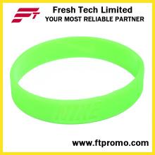 Fulgor na obscuridade personalizado pulseira de Silicone com nenhum logotipo