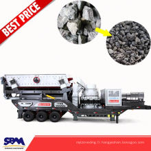 Minerai de fer, machine d'écrasement de pierre d'application de granit utilisée en Malaisie