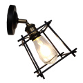 Retro Black Industrial Metal Wire Cage Wall Lamps