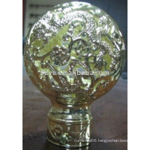 Resin shiny curtain rod finials fancy finials