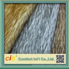 Tissu de fourrure fausse / Tissu de fourrure artificielle / Velours PV