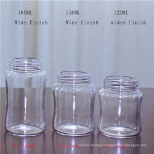 120ml Clear Borosilicate Glass Bottle