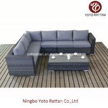 Grau Rattan Langes Sofa für Outdoor (1502)