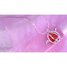 42820 vente chaude diamant américain bijoux 18 k mode diamant fleur pendentif plaqué or bijoux collier