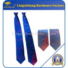 Cravate personnalisée de soie de logo d'impression