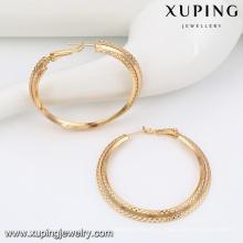 91575 xuping projetos simples brinco de ouro para as mulheres sem pedra de imitação de jóias brinco de argola