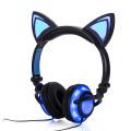 Auriculares Auriculares con oreja de gato Auriculares plegables con LED