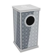 Cubo de basura de vidrio templado para el vestíbulo (yw0077)