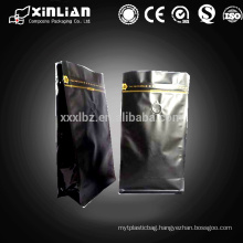 laminated square bottom gusseted coffee bags with e-zip