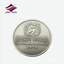 Consejo deportivo personalizado estampado insignia de solapa de metal