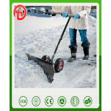 Выдвижной ручной удобный снег толкать лопату с тележки инструмента колеса
