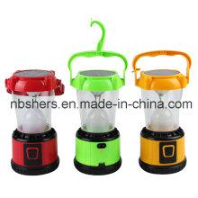 12PCS LED Solar Lantern de camping USB Outlet