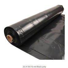 Black Polyethylene Sheeting, Clear Polyethylene Sheeting, 6 Mil Reinforced Poly Sheeting